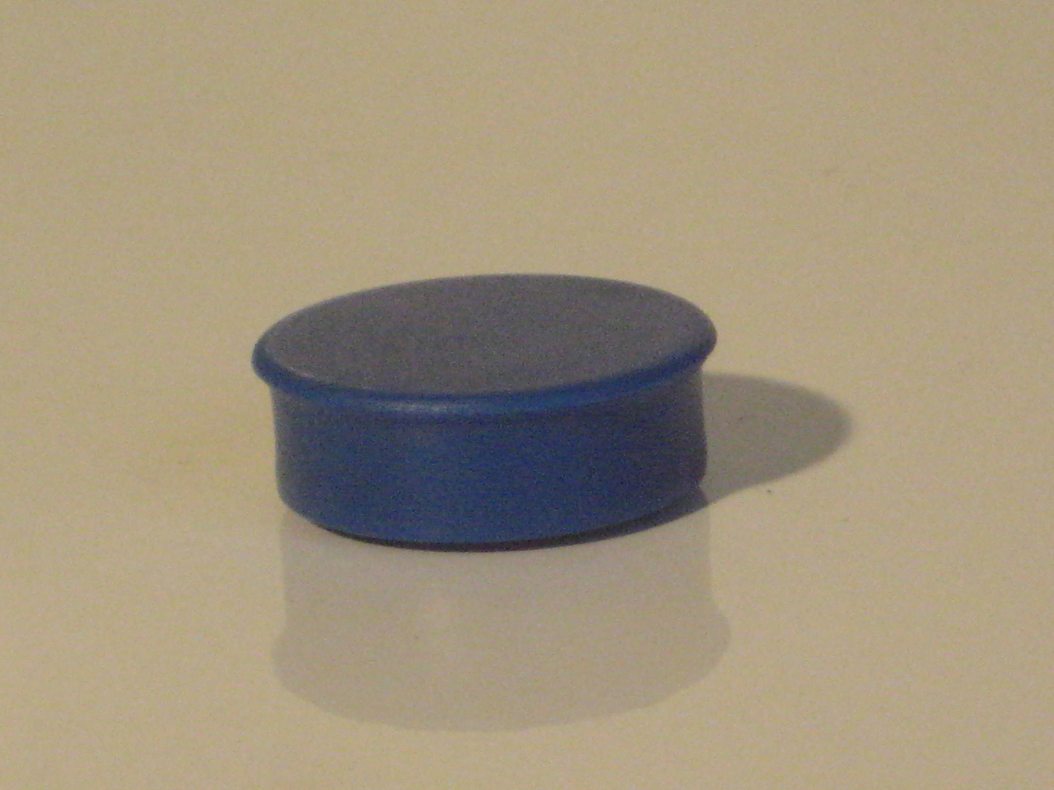 Abel Magnets Blue Plastic Memo Magnets 20mm Diameter Pack